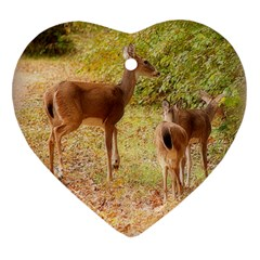 Deer in Nature Heart Ornament (Two Sides)