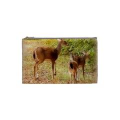Deer in Nature Cosmetic Bag (Small)