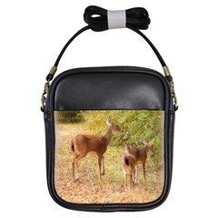 Deer in Nature Girl s Sling Bag