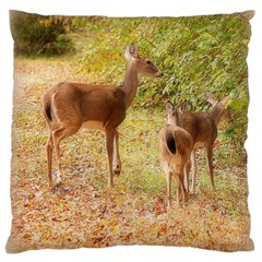 Deer in Nature Large Cushion Case (Two Sided)