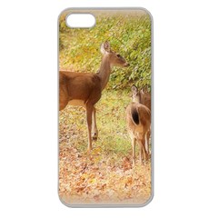 Deer In Nature Apple Seamless Iphone 5 Case (clear)
