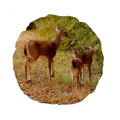 Deer in Nature 15  Premium Round Cushion