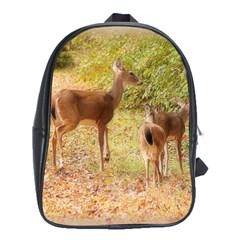 Deer in Nature School Bag (XL)
