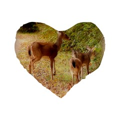 Deer in Nature 16  Premium Heart Shape Cushion
