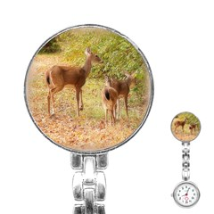 Deer In Nature Stainless Steel Nurses Watch