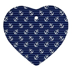 Boat Anchors Heart Ornament