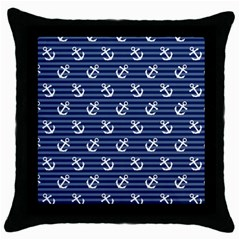 Boat Anchors Black Throw Pillow Case
