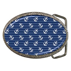 Boat Anchors Belt Buckle (oval)