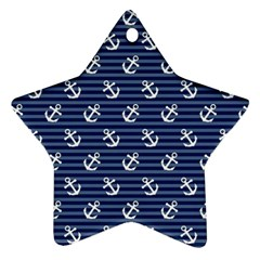 Boat Anchors Star Ornament (two Sides)