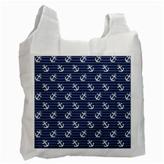 Boat Anchors White Reusable Bag (Two Sides)