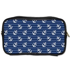 Boat Anchors Travel Toiletry Bag (one Side)