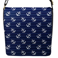 Boat Anchors Flap Closure Messenger Bag (Small)