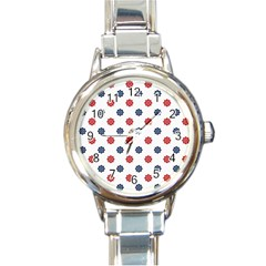 Boat Wheels Round Italian Charm Watch