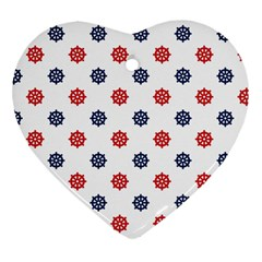 Boat Wheels Heart Ornament (Two Sides)