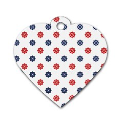 Boat Wheels Dog Tag Heart (two Sided)