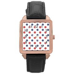 Boat Wheels Rose Gold Leather Watch