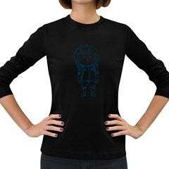 when I go to mars Women s Long Sleeve T-shirt (Dark Colored)