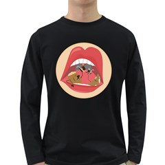 Party In Mouth Men s Long Sleeve T Shirt (dark Colored)