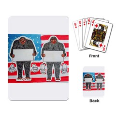 2 Big Foot Text On U S A Playing Cards Single Design