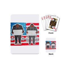2 Big Foot Text On U S A Playing Cards (mini)