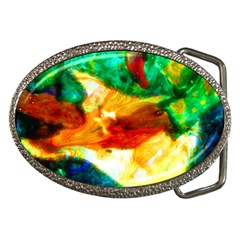 Xping Through Beholding Belt Buckle (oval)