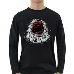 Trouble In the Space Men s Long Sleeve T-shirt (Dark Colored)