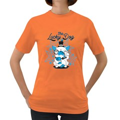 The Lucky Dog Women s T Shirt (colored)