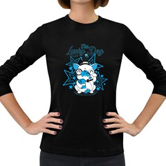 The Lucky Dog Women s Long Sleeve T-shirt (Dark Colored)