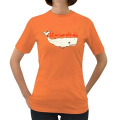 White Whale Women s T-shirt (Colored)