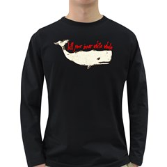 White Whale Men s Long Sleeve T-shirt (Dark Colored)