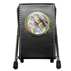Just Gimme Money Stationery Holder Clock