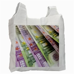 Just Gimme Money White Reusable Bag (One Side)