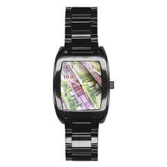 Just Gimme Money Stainless Steel Barrel Watch