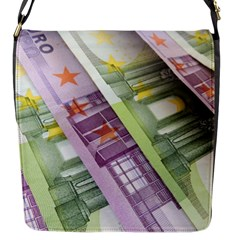 Just Gimme Money Flap Closure Messenger Bag (Small)
