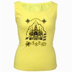 Russian Tattoo Women s Tank Top (Yellow)