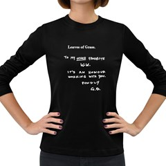 Leaves of Grass Walter White  Women s Long Sleeve T-shirt (Dark Colored)