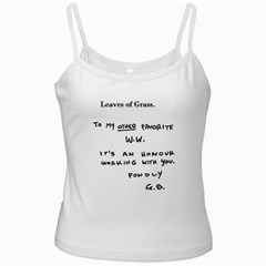 Leaves of Grass Walter White  White Spaghetti Tank