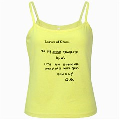 Leaves of Grass Walter White  Yellow Spaghetti Tank