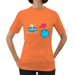 Space Buddies Women s T-shirt (Colored)