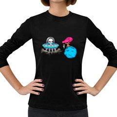 Space Buddies Women s Long Sleeve T Shirt (dark Colored)