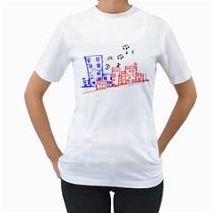 Music Unties (urban music design) Women s T-Shirt (White)