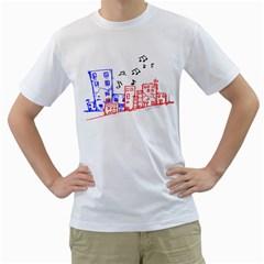 Music Unties (urban Music Design) Men s T Shirt (white)