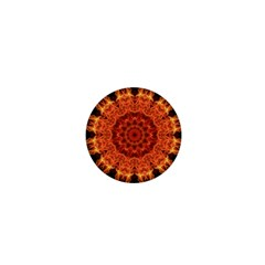 Flaming Sun 1  Mini Button Magnet