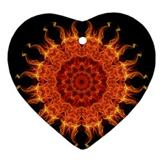 Flaming Sun Heart Ornament