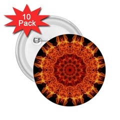 Flaming Sun 2.25  Button (10 pack)