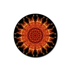 Flaming Sun Drink Coasters 4 Pack (Round)