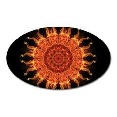 Flaming Sun Magnet (oval)
