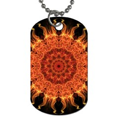 Flaming Sun Dog Tag (One Sided)