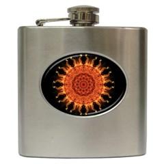 Flaming Sun Hip Flask