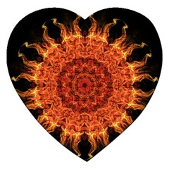 Flaming Sun Jigsaw Puzzle (Heart)